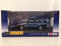 amazon com diecast model caspian blue ford escort mk3 xr3