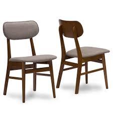 joma grey fabric mid century chair 2 set modern furniture