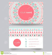 business card template blue white and pink stock vector image