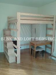 Loft Bed Queen Size Queen Size Extra Tall Loft Bed With Custom Made Stair Case