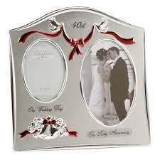 40th wedding anniversary gifts for parents two tone silverplated wedding anniversary gift photo frame 40th