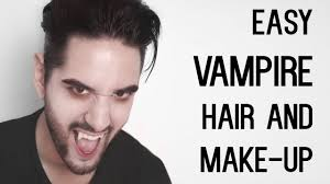 easy face makeup for halloween cheap and easy vampire look hair and make up halloween men u0027s