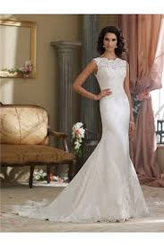 high wedding dresses high neck v back silk satin lace wedding dress
