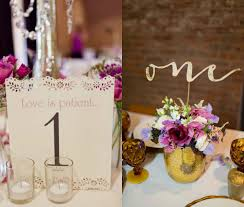insanely romantic table number card ideas for weddings