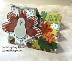 thanksgiving turkey card the stamps of life with stephanie barnard november 2015