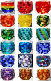 halloween votive candle holders 25 best mosaic candle holder ideas on pinterest mosaic planters