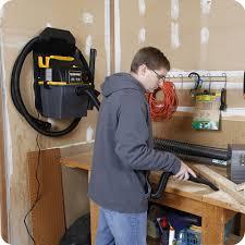 wall mounted auto vac workshop wet dry vacuum ws0501wm