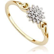 pierscionek zareczynowy pierścionek zaręczynowy z diamentami z żółtego złota p0547zb