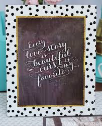 Chalkboard Wedding Sayings Custom Wedding Guest Book Ideas
