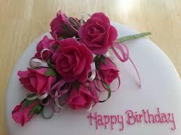 Cerise Pink Rose Spray Birthday Cake Susie U0027s Cakes