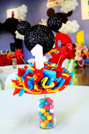mickey mouse center pieces mickey mouse club house party centerpieces made by me mickey