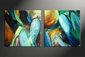 home decor canvas 2 piece colorful canvas abstract modern oil paintings huge pictures