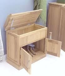 mobel solid oak furniture shoe storage seating hallway bench and