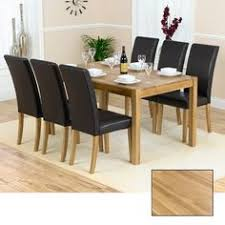 solid oak table with 6 chairs cuneo extendable solid wooden dining table bianco boat shape 6