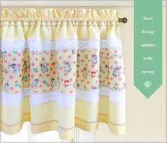 Nursery Valance Curtains Window Valance Panels With Lace Decorative Stitching Sew4home