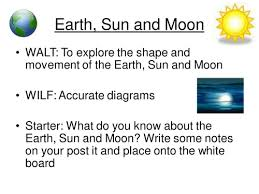 earth sun and moon introductory ppt by smcdonnell1 teaching