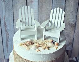 chair cake topper starfish adirondack chair wedding cake topper