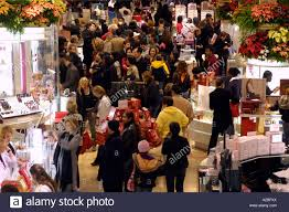 thanksgiving black friday a crush of shoppers inside macy s department store in nyc on black