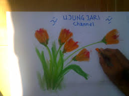 cara menggambar bunga indah how to draw beautiful flower part