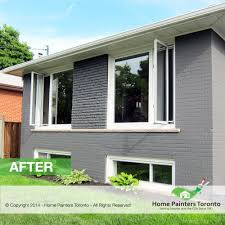 exterior brick painting before after photo gallery