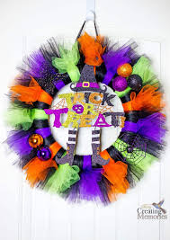 easy spooky tutu halloween wreath tutorial for your front porch