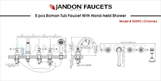 Jandon Faucet Useful Everyday Since 2002 8209c U2022 5pcs Roman