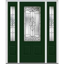 mmi door 60 in x 80 in cadence right hand 3 4 lite 2 panel