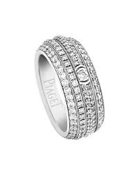 piaget ring piaget possession pavé diamond band ring in 18k white gold