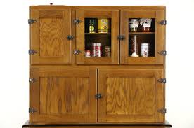Antique Kitchen Furniture Hoosier Oak U0026 Maple 1915 Antique Kitchen Pantry Cupboard Flour