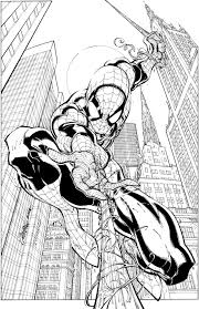 comic book coloring pages free printable spiderman coloring pages for kids