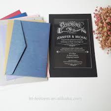 clear acrylic wedding invitation clear acrylic wedding invitation
