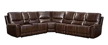 Sectional Reclining Sofas Amazon Com Homelegance 4 Piece Bonded Leather Sectional Reclining