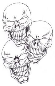 skull drawings evil skull drawings transparent pictures