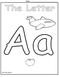 letter a worksheets alphabet worksheets for preschoolers activity