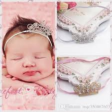 infant hair baby girl kids hair bands accessories crown sparking