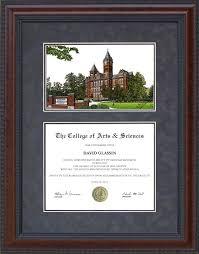 auburn diploma frame diploma frame with licensed auburn cus lithograph