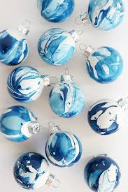 and loisdiy indigo marbled ornaments and lois