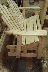 furniture oak glider rocker glider bench