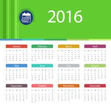 2016 calendar template pdf with 12 months on one page printable