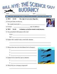 bill nye the science guy buoyancy forces u0026 motion video worksheet