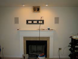 mounting tv over fireplace cool solution for mounting tv above