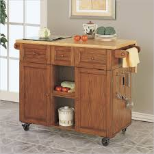 powell kitchen islands hypnotic powell oak kitchen island on heavy duty lockable caster