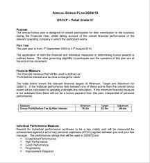 bonus plan template sample employee bonus letter sample employee