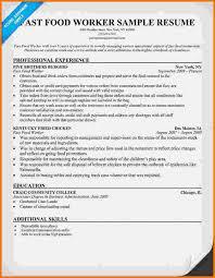 resumes for restaurant jobs sample restaurant worker resume agi mapeadosencolombia co