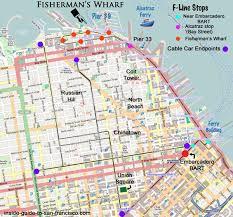 san francisco map for tourist bart to pier 33 map alcatraz fishermans wharf san francisco