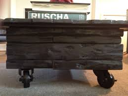 furniture used stained wooden chest coffee table with storage and