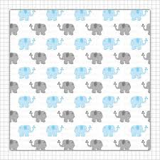 baby boy wrapping paper blue elephant digital paper boy baby shower scrapbook paper