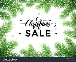 sale text on pine tree stock vector 533759422