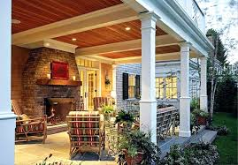 back porch design back porch with fireplace designs ideas screen