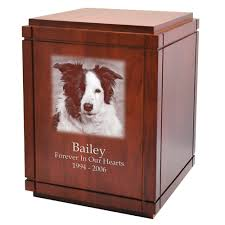 dog urns wholesale large dog urns cherry finish grooved vertical wood urn